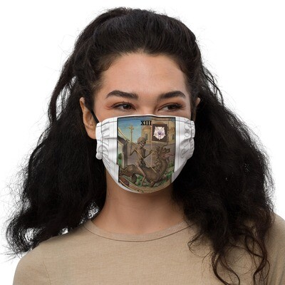 Premium face mask - Tarot; Death