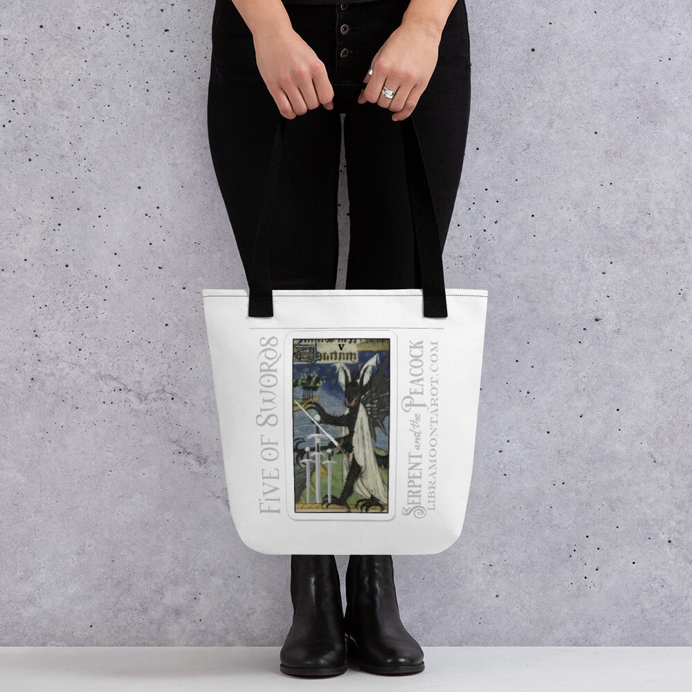 Tote bag - Tarot; Five of Swords