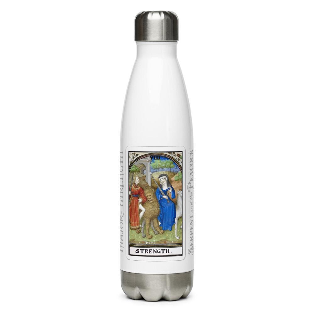 Stainless Steel Water Bottle - Tarot; Strength