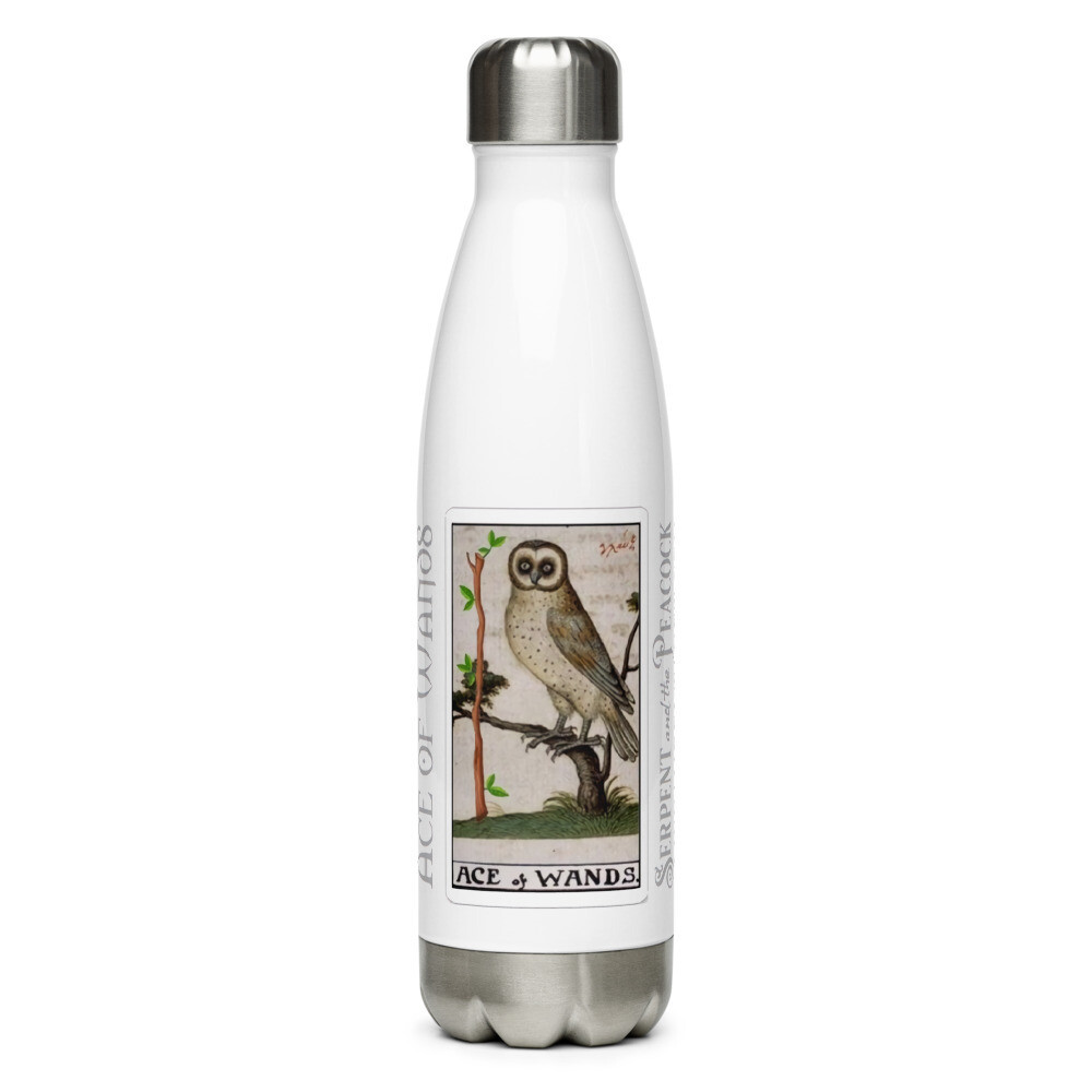 Stainless Steel Water Bottle - Tarot; Ace of Wands