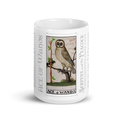 White glossy mug - Tarot; Ace of Wands