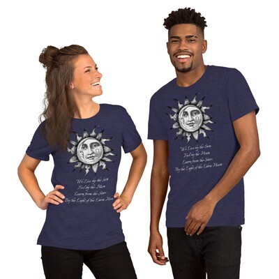 Short-Sleeve Unisex T-Shirt - We Live by the Sun