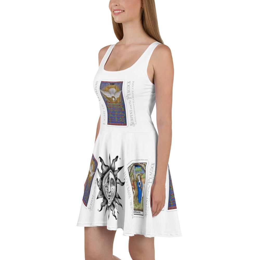 Skater Dress - Tarot; Eight of Wands