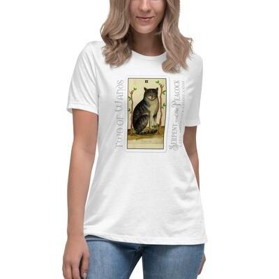 Women's Relaxed T-Shirt - Tarot; Two of Wands
