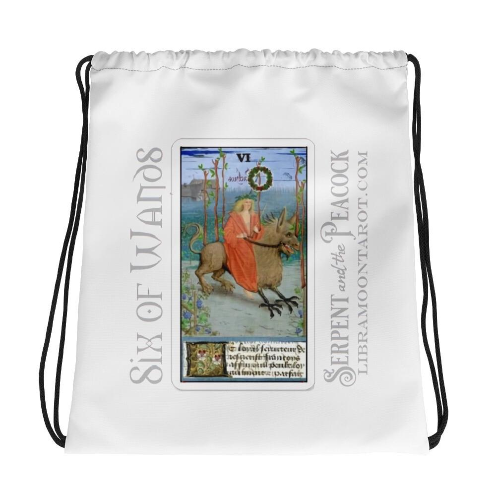 Drawstring bag - Tarot Six of Wands