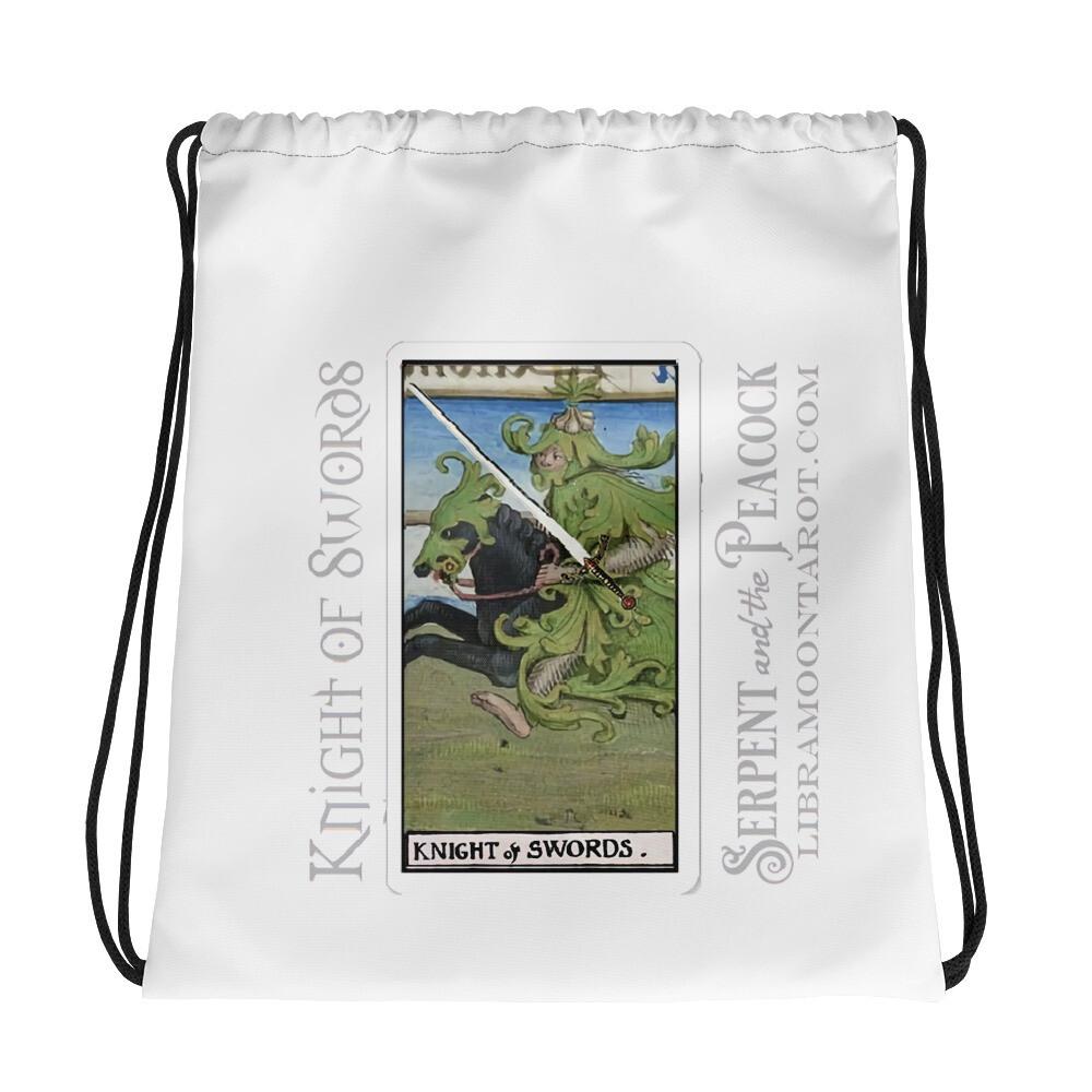 Drawstring bag - Tarot Knight of Swords