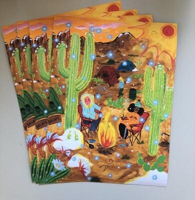 Desert commune, print
