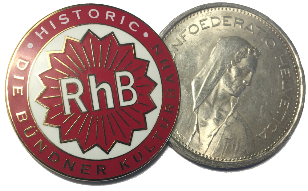 Ansteck-Coccarde «historic RhB»