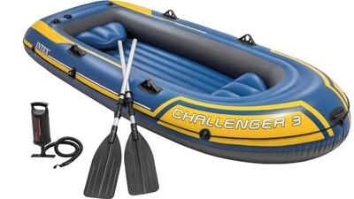 Intex Challenger 3 Boat Set Schlauchboot für 3 Personen max. 255 Kilo