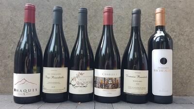Caisse découverte vin rouge | 6 bouteilles de 75 cl