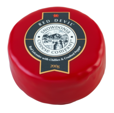 Snowdonia Red Devil Red Leicester with Chillies and Crushed Pepper 200g