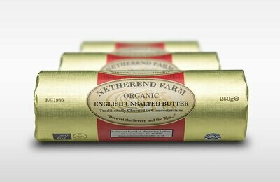 Netherend Farm Organic Unsalted Butter Roll 250g
