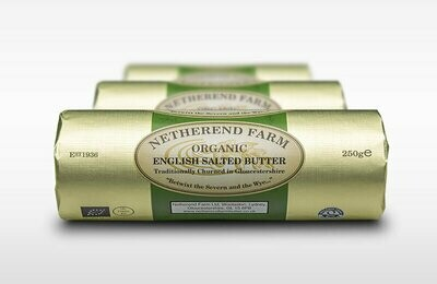 Netherend Farm Organic Salted Butter Roll 250g