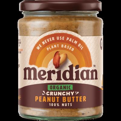 Meridian Organic Crunchy Peanut Butter 470g
