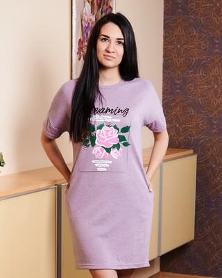 "Туника меланжевая ""Роза"""