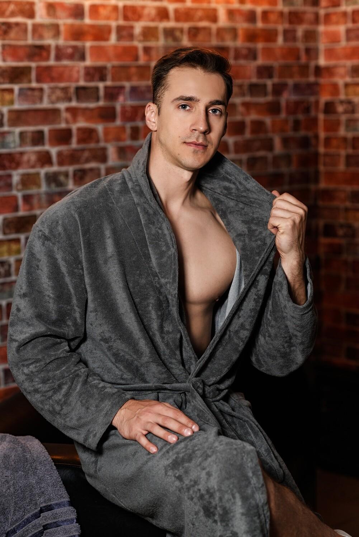 Халат банный, мужской