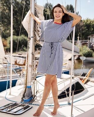 Платье женское (синее)