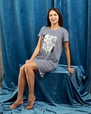 Платье женское у7-408-1 (синий)