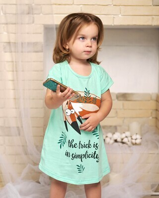 Сорочка детская у4-176 (мята)
