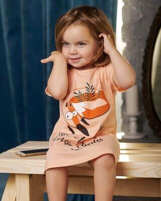 Сорочка детская у4-176 (персик)