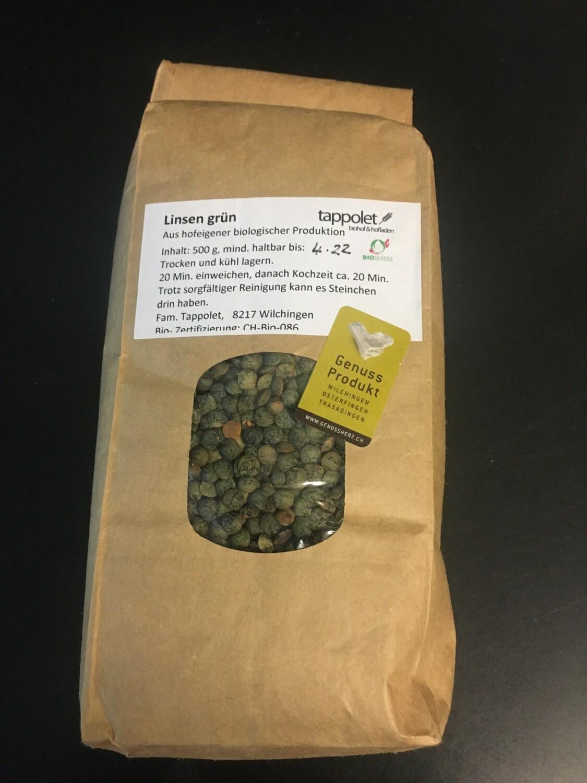 Linsen Bio Grün ca. 500g