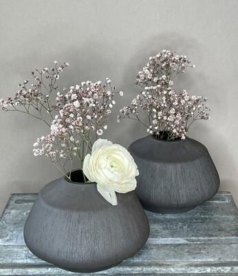 Darwin Keramik Vase schwarz