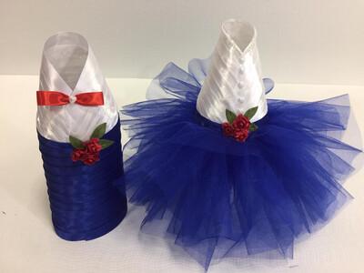 Одежда для шампанского , синий