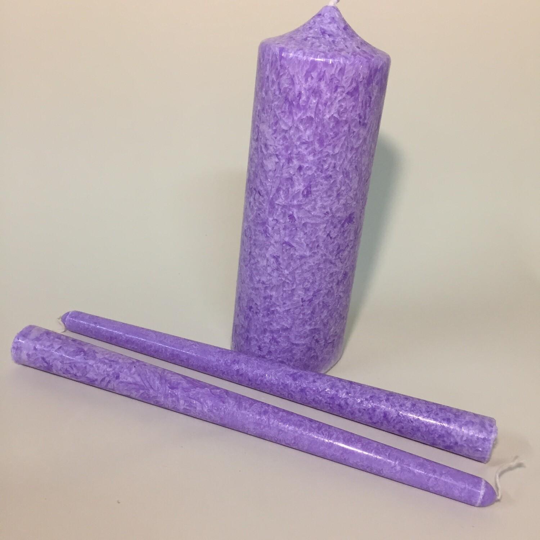 Комплект свечей «Мраморный», 3 шт