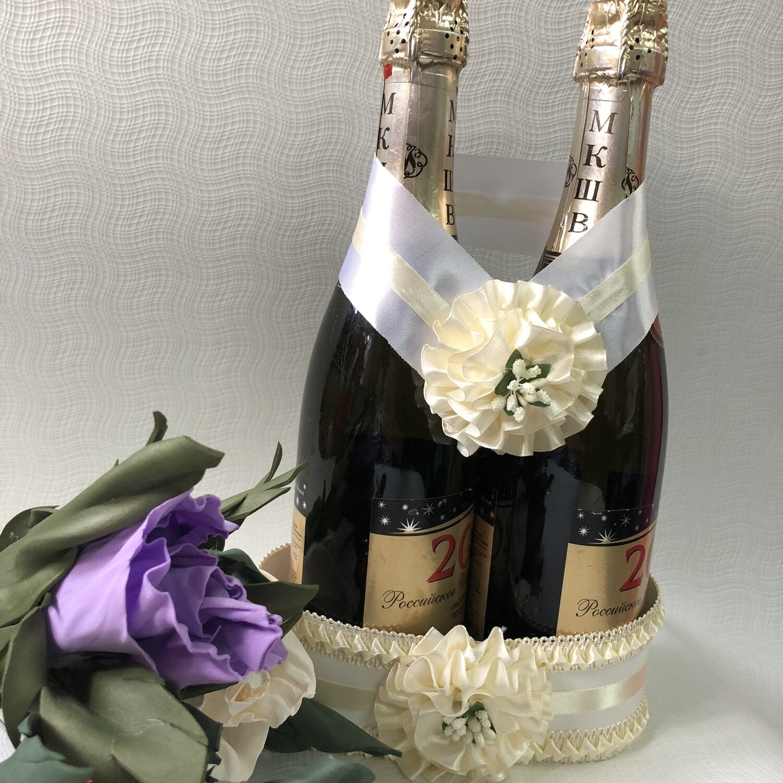 Корзинка для шампанского &1, айвори