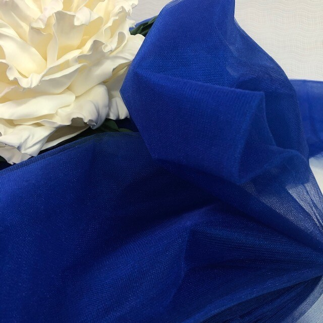 Фатин, синий, шир 300 см