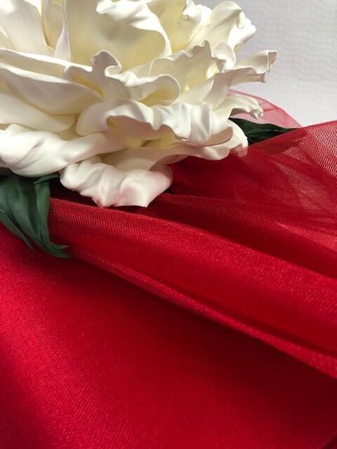 Фатин , красный, шир 300 см