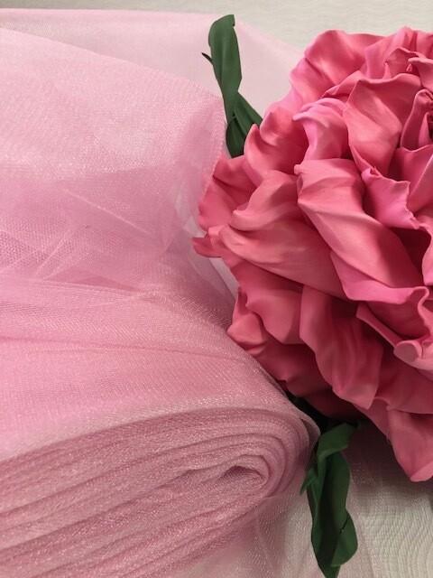 Фатин, розовый