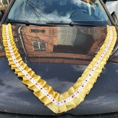 Лента д/авто «Сердечки» атлас, уп-ка 5 шт, золото