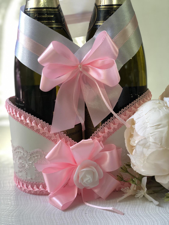 Корзинка д/шампанского №10, розовый