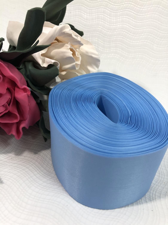 Лента метражная 5 см, п/э, голубой