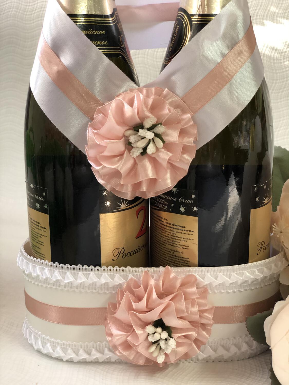 Корзинка для шампанского &1, пудра