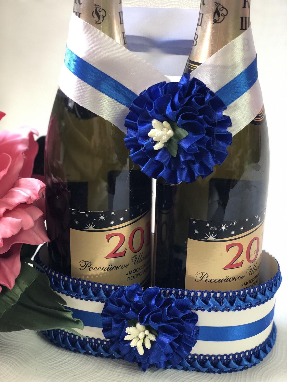 Корзинка для шампанского &1, синий