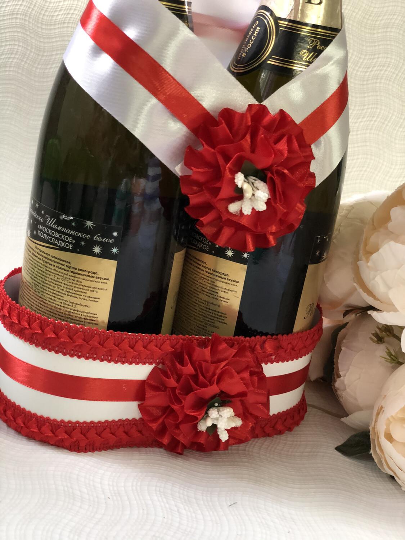 Корзинка для шампанского &1, красный
