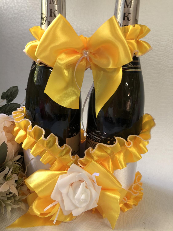 Корзинка д/шампанского &2, желтый