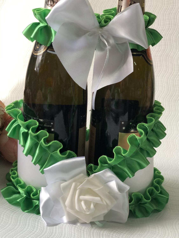 Корзинка д/шампанского &2, зелёный
