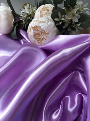 Ткань Атлас, сирень, шир 150 см