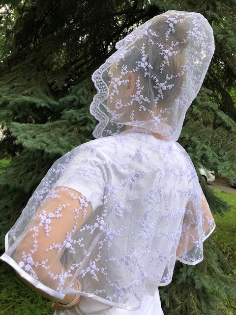 Болеро-накидка венчальное, белый