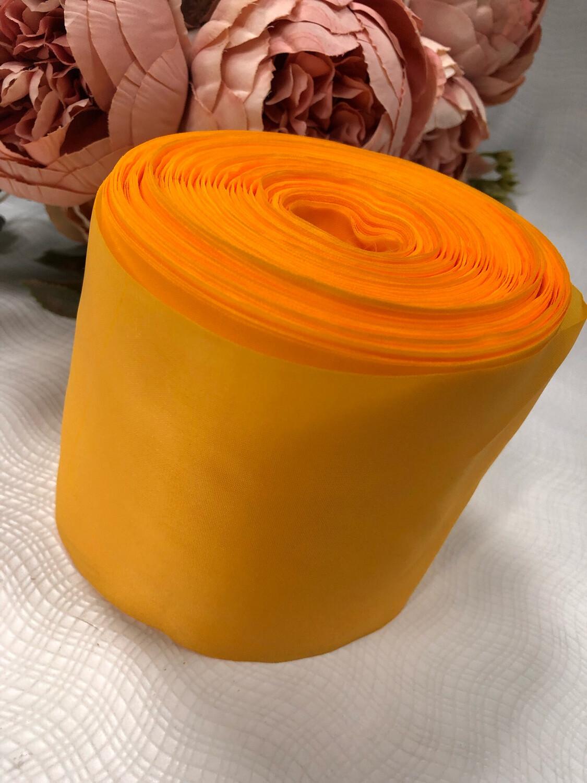 Лента метражная 10 см, п/э, желтый