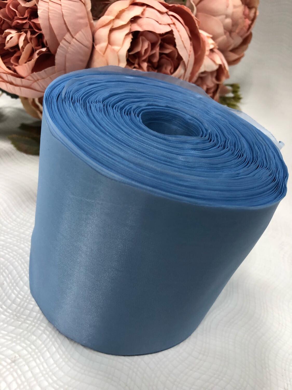 Лента метражная 10 см, п/э, голубой