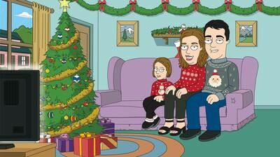 Ritratto di famiglia in stile natalizio