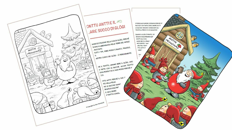 I 24 racconti di Natale originali lapponi, con illustrazioni e anche da colorare