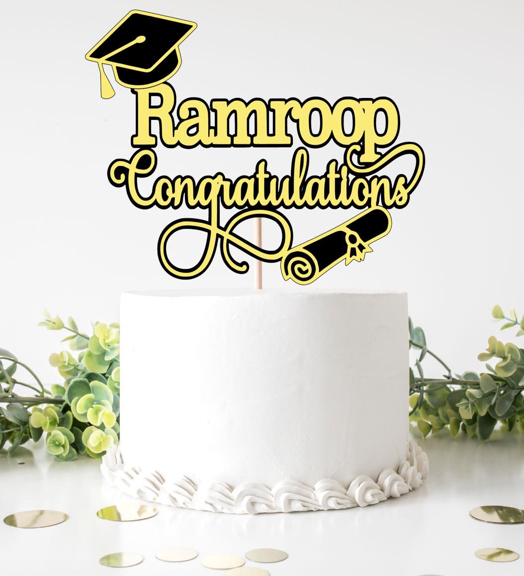 Congratulations Grad - Cake Topper
