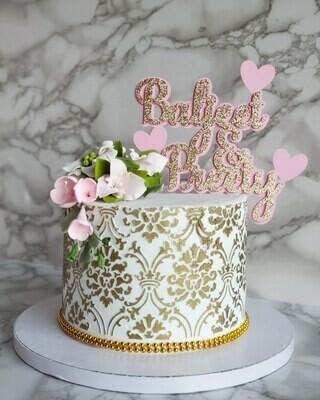 Damask Floral Cake