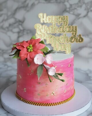 Waterclour & Floral Cake