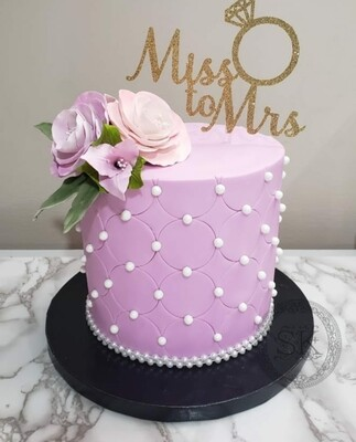 Quilted Floral Cake